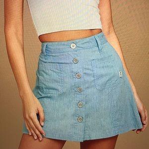 Lulu's Light Blue Chambray Mini Skirt